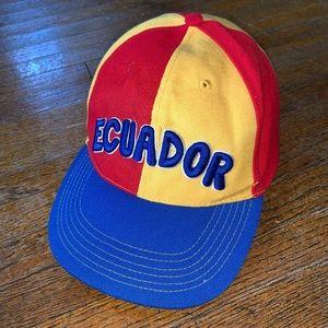 Vintage Ecuador Colorblock Snapback Hat National